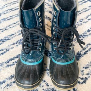 Sorel Teal Blue Rain and Snow Boot